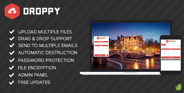 اسکریپت اشتراک گذاری فایل Droppy