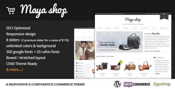 قالب فروشگاهی وردپرس MayaShop