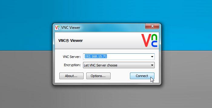VNC در وی ام ور