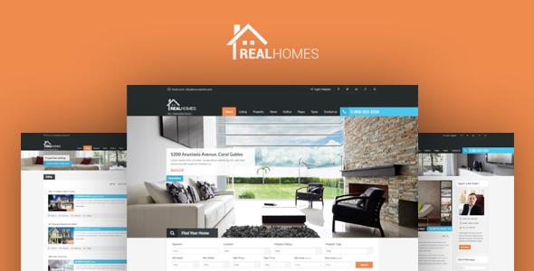 قالب املاک وردپرس Real Homes